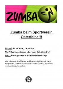 Zumba beim Sportverein Osterfeine 2