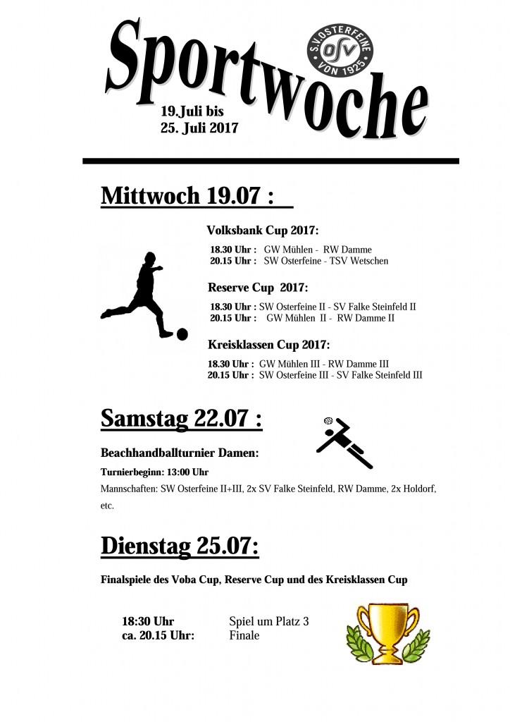 Plakat Sportwoche 2017