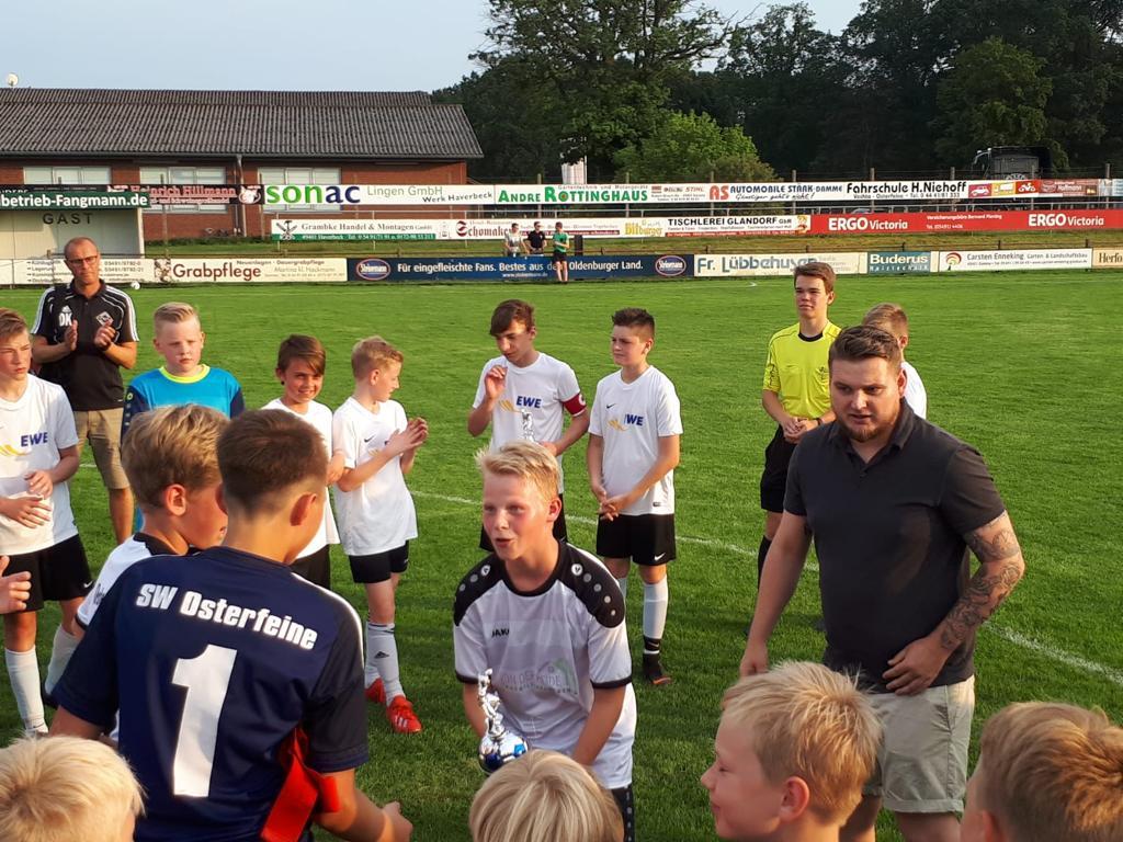 Sportverein Sw Osterfeine D Jugend Gewinnt